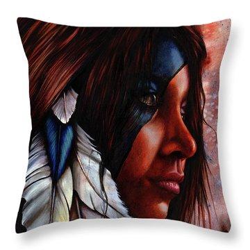 Silent Grace Throw Pillow