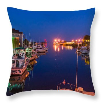 Silent Harbor Throw Pillow