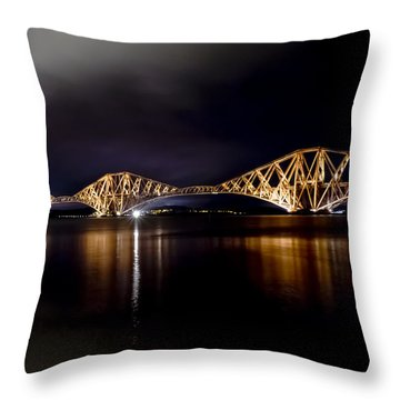Silent Lights Of The Magic Night. Throw Pillow