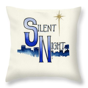 Silent Night Throw Pillow by Cindy Garber Iverson
