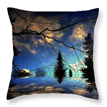 Throw Pillow featuring the photograph Silent Night by Elfriede Fulda