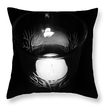 Silent Night Light Throw Pillow