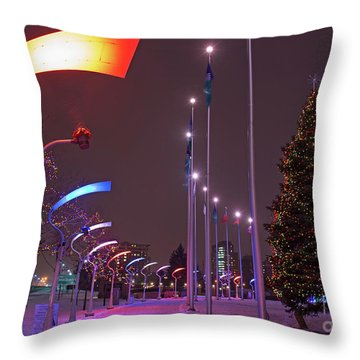 Throw Pillow featuring the photograph Silent Night.. by Nina Stavlund