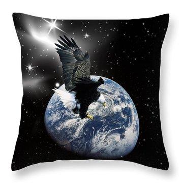 Silent Night Throw Pillow by Robert Orinski