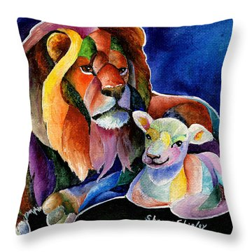 Silent Night Throw Pillow by Sherry Shipley