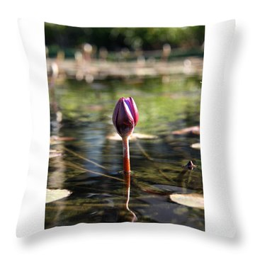 Silent. Throw Pillow