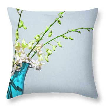 Silent Stems Throw Pillow