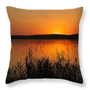 Silent Sunset Throw Pillow
