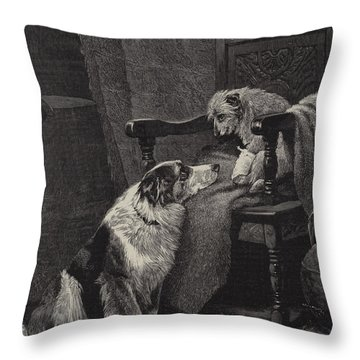 Silent Sympathy Throw Pillow