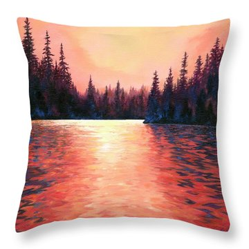 Silent Treasures Throw Pillow by Lucy West