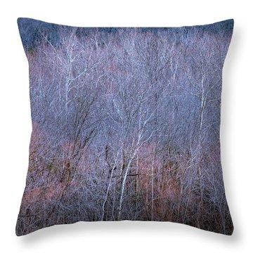 Silent Trees Throw Pillow