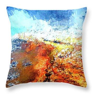 Silex Hot Springs Abstract Throw Pillow
