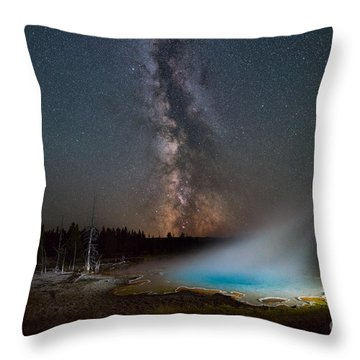 Throw Pillow featuring the photograph Silex Spring Milky Way  by Michael Ver Sprill