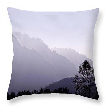 Silhouette Austria Europe Throw Pillow by Sabine Jacobs
