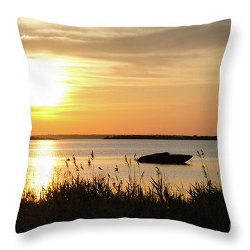 Throw Pillow featuring the photograph Silhouette By Sunset by Kennerth and Birgitta Kullman