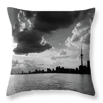 Silhouette Cn Tower Throw Pillow