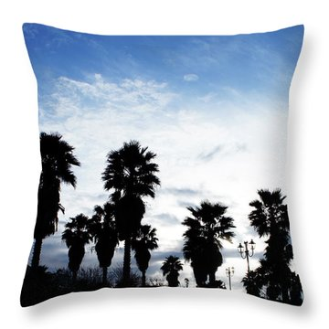 Silhouette In Tropea Throw Pillow