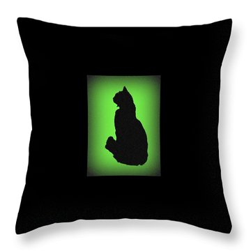 Throw Pillow featuring the photograph Silhouette by Karen Shackles
