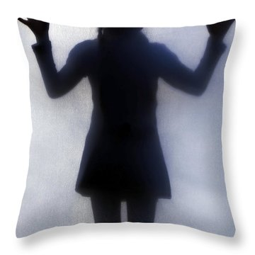 Silhouette Of A Girl Throw Pillow