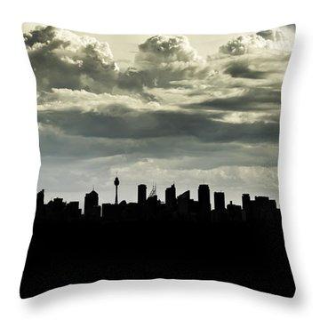 Silhouette Of Sydney Throw Pillow