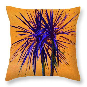 Silhouette On Orange Throw Pillow