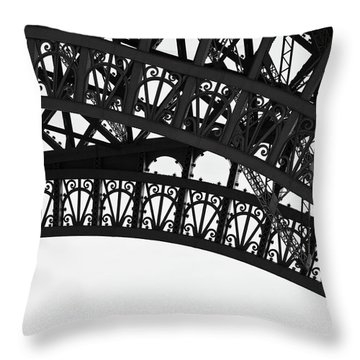 Throw Pillow featuring the photograph Silhouette - Paris, France by Melanie Alexandra Price