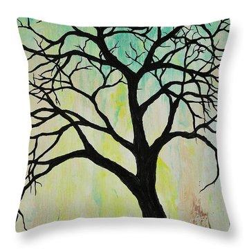 Silhouette Tree 2018 Throw Pillow