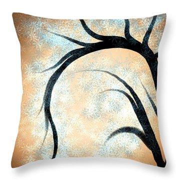 Silhouette Tree Throw Pillow