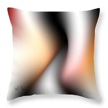Throw Pillow featuring the digital art Silhouettes 1 by Leo Symon