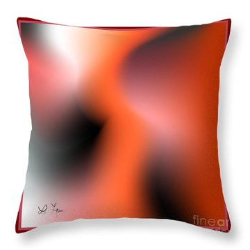 Throw Pillow featuring the digital art Silhouettes 2 by Leo Symon