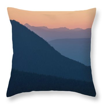 Throw Pillow featuring the photograph Silhouettes At Sunset, No. 2 by Belinda Greb