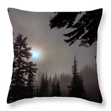 Silhouettes In The Mist 2008 Throw Pillow