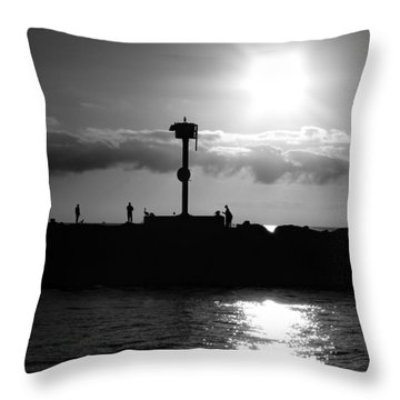 Throw Pillow featuring the photograph Silhouettes by Kevin Ashley
