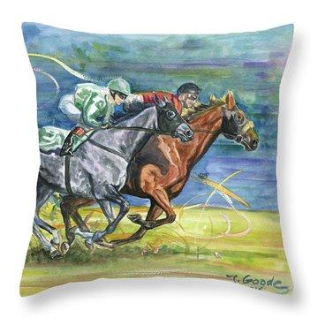 Silk Glamour Throw Pillow by Jana Goode
