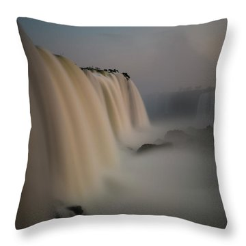 Silk Torrent Throw Pillow
