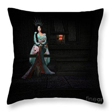 Silks And Parasols 3 Throw Pillow