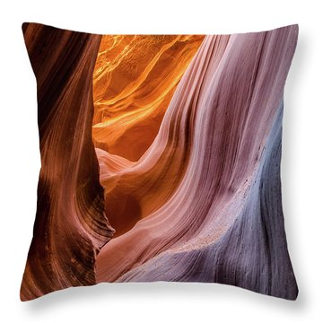 Silky Rocks 2 Throw Pillow