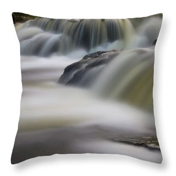 Throw Pillow featuring the photograph Silky Waters by Heather Kenward