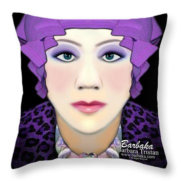 Throw Pillow featuring the photograph Silly Headdress by Barbara Tristan