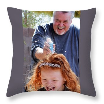 Silly String Attack Throw Pillow