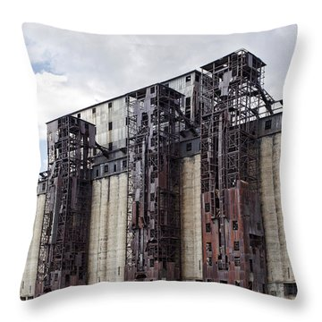 Silo City 10 Throw Pillow