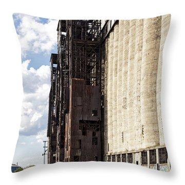 Silo City 8 Throw Pillow
