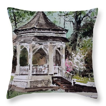 Siloam Springs Park Throw Pillow by Monte Toon