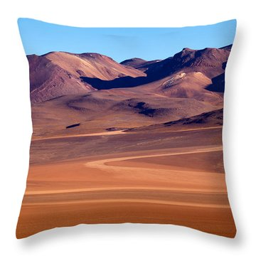 Siloli Desert Throw Pillow by Aivar Mikko