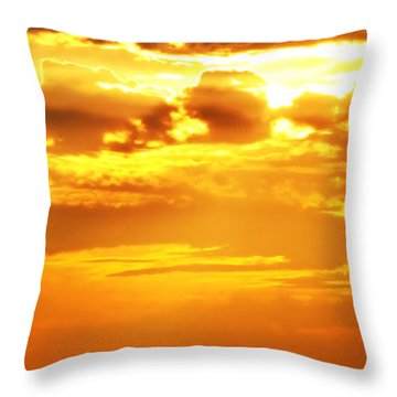 Silos At Sunset Throw Pillow by Michelle Joseph-Long
