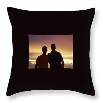 Silouettes Throw Pillow by Val Oconnor