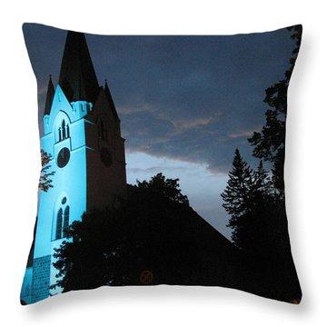 Throw Pillow featuring the photograph Silute Lutheran Evangelic Church Lithuania by Ausra Huntington nee Paulauskaite
