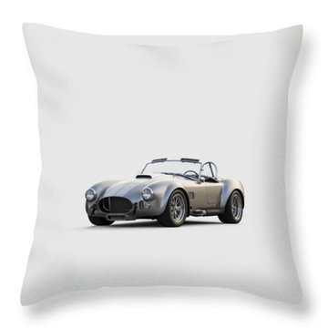 Silver Ac Cobra Throw Pillow