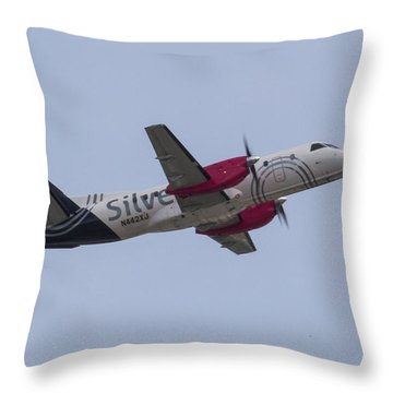 Silver Air Throw Pillow