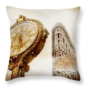 Silver And Gold Throw Pillow by Az Jackson